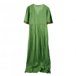GREEN LONG DRESS