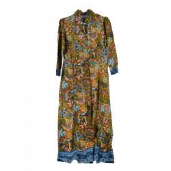 LONG FLOWER FANTASY DRESS