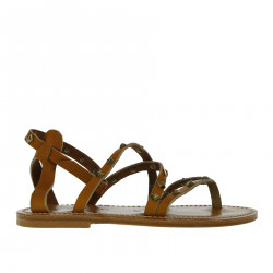 BROWN SANDAL WITH STUDS