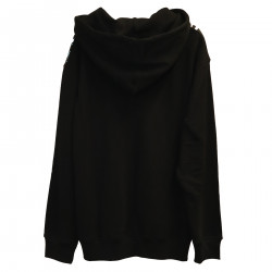 BLACK SWEATSHIRT WITH HOOD