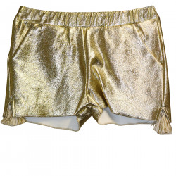 SHORTS COLOR GOLD