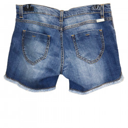 BLUE SHORTS OF JEANS WITH EMBROIDERY