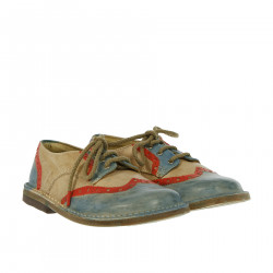 LEATHER MULTICOLOR SHOE