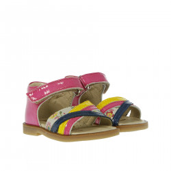 SANDAL COLOR PINK AND MULTICOLOR