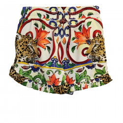 MULTICOLOR SHORTS WITH ROUGE