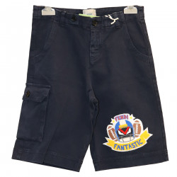 BLUE SHORT WITH PATCH