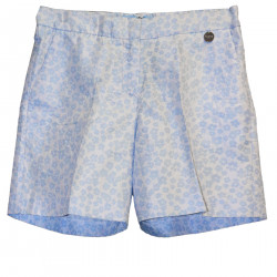 BLUE SHORTS WITH FLOWERS