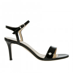 BLACK PATENT LEATHER SANDAL