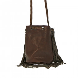 DARK BROWN BUCKET BAG