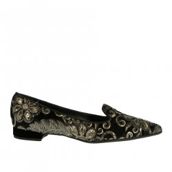 BLACK FLAT SHOE WITH SEQUINS