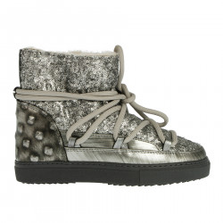 MOON BOOT ARGENTO CON PAILLETTES