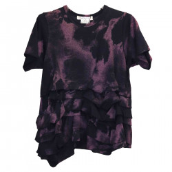 T SHIRT WITH ROUCHES