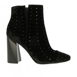 VELVET BOOT WITH STRASS