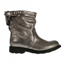 GREY LEATHER BOOT