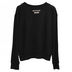 BLACK SWEATSHIRT WITH BEADS