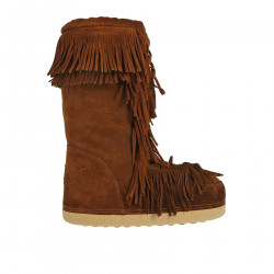 SUEDE MON BOOT WITH FRINGES