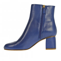 BLUE LEATHER BOOTS