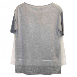 GREY SWEATER WITH TULLE