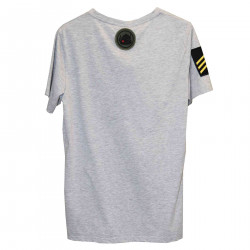 T SHIRT GRIGIA CON TOPPE