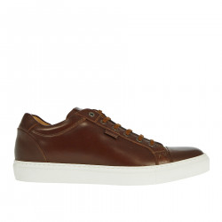 BROWN LEATHER SNEAKER