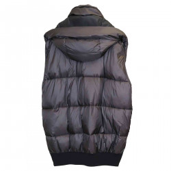 BLACK SMANICED DOWN JACKET