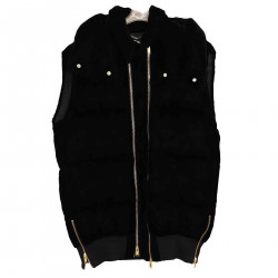 BLACK SLEEVELESS DOWN JACKET