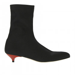 BLACK FABRIC BOOTS
