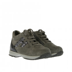 GREY SNEAKER WITH GLITTER