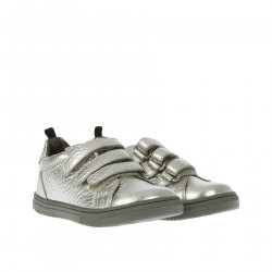 SILVER SNEAKER WITH STRAPS