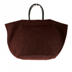 BORDEAUX WOOL HANDBAG