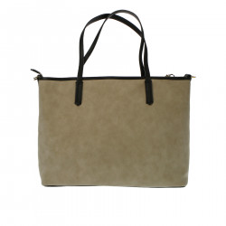 BORSA SHOPPING BEIGE GRAFIC