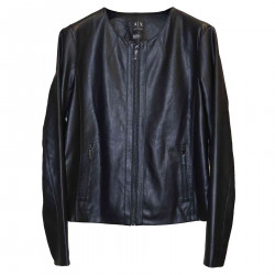 BLACK JACKET IN ECO LEATHER
