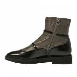BICOLOR LEATHER BOOT