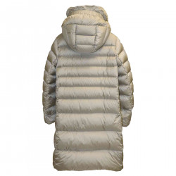 PEARL GRAY DOWN JACKET WITH HOOD
