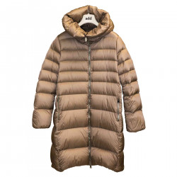BEIGE DOWN JACKET WITH HOOD