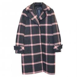 PINK AND DARK GRAY COAT