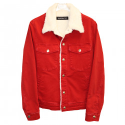 RED JACKET WITH ECO FUR INTERIOR
