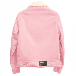 PINK JACKET WITH ECO FUR INTERIOR