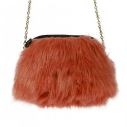 PINK ECO FUR MINI SHOULDER BAG
