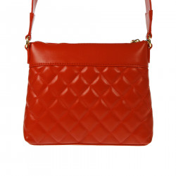 RED QUILTED SHOULDER BAG