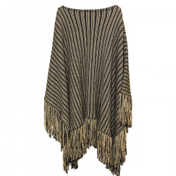 PONCHO BLACK AND GOLD