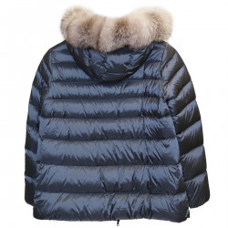 DARK GRAY DOWN JACKET WITH HOOD