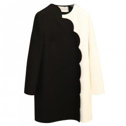 WHITE AND BLACK COAT
