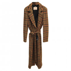 BROWN AND BLUE COAT