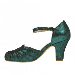 AMBER DARK GREEN SANDAL