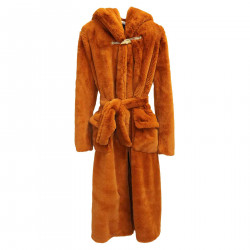ECO FUR BROWN WITH HOOD