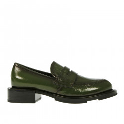 GREEN LEATHER LOAFER