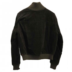 BLACK VELVET JACKET WITH APPLICATIONS