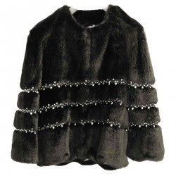 BLACK ECO FUR WITH PEARL FANTASY