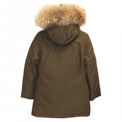 MILITARY GREEN PARKA WITH HOOD